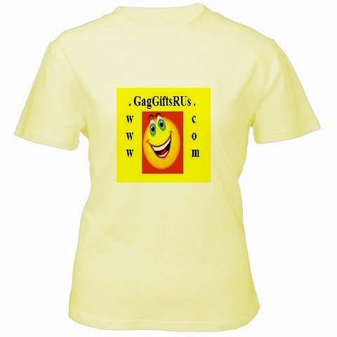 Custom Yellow Women's T-Shirt SMALL Customized Promotional Personalize It Logo Item