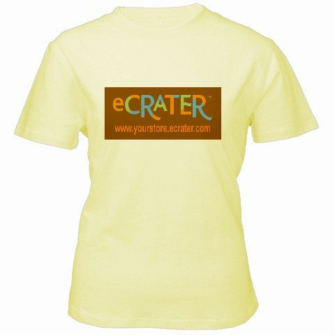 Custom Yellow Women's T-Shirt XL Ex-Large Customized Promotional Personalize It Logo Item