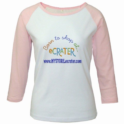 Custom Jr. Raglan Baseball Jersey Pink White T-Shirt XL Ex-Large Sports Team Uniform School Logo