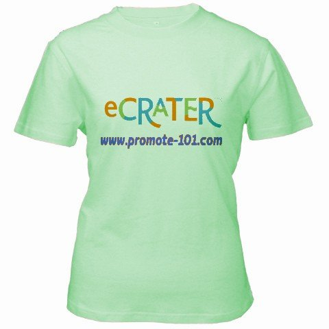 Custom Green Women's T-Shirt Large Customized Promotional Personalize It Logo Item