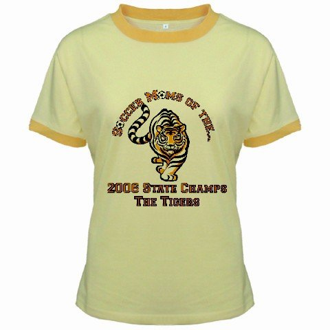 Ringer T-Shirt Jr SMALL Yellow Customized Promotional Personalize It Logo Item