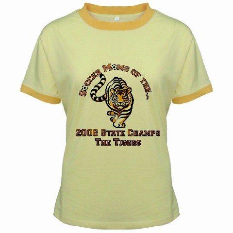 Ringer T-Shirt Jr  Ex-Large XL Yellow Customized Promotional Personalize It Logo Item
