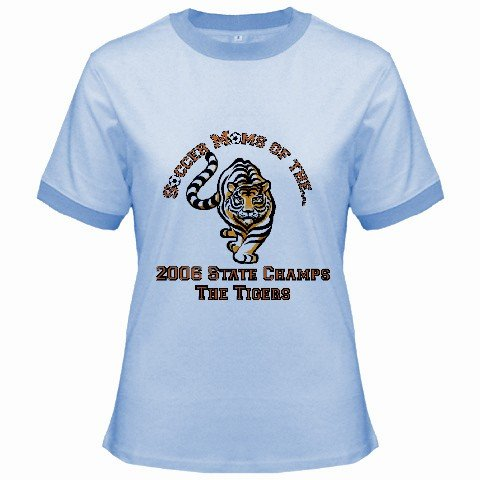Ringer T-Shirt Jr T-Shirt Medium Blue Customized Promotional Personalize It Logo Item