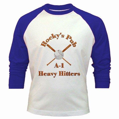 Baseball Jersey Custom Sports Team Uniform Medium Blue White Customize Personalize Logo
