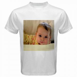 Custom White T-Shirt XL ExLarge Customize Personalize Business Logo #CT