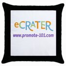 Custom Throw Pillow Case BLACK Customize Promotional Item Personalize It