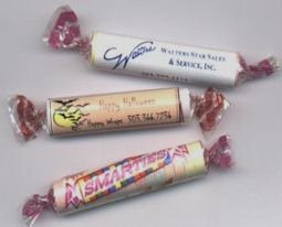 50 Custom Personalized Smartie Candy with your LOGO