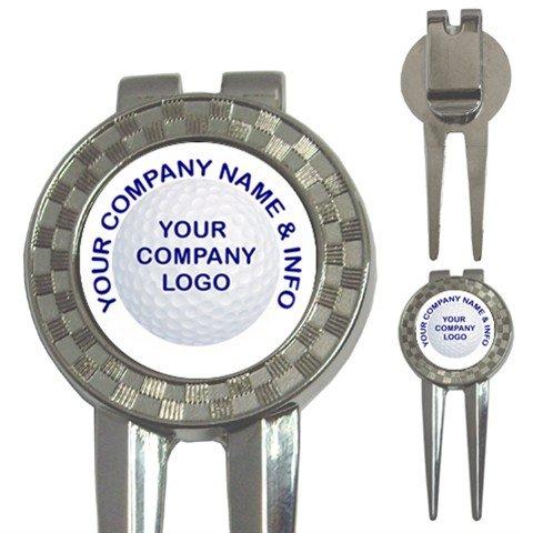 100 BULK Custom 3 in 1 Golf Ball Marker DIVOT TOOL Customize Promotional Item Personalize It