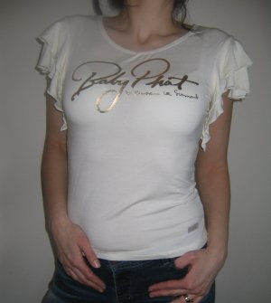 NWT BABY PHAT FLUTTER SLEEVE TEE  MSRP $75 L CREAM