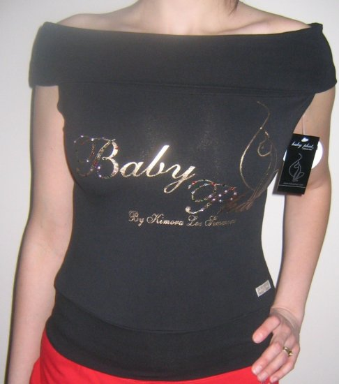 Baby Phat Offshoulder shirt $80 Retail size M Black
