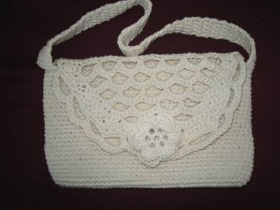 Handmade Crocheted Rose Purse