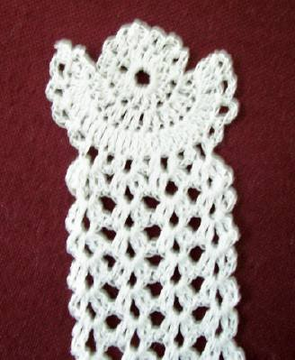 Crocheted Angel Bookmark