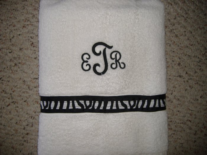 Personalized bath, beach or golf towels