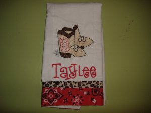 Personalized burp cloths