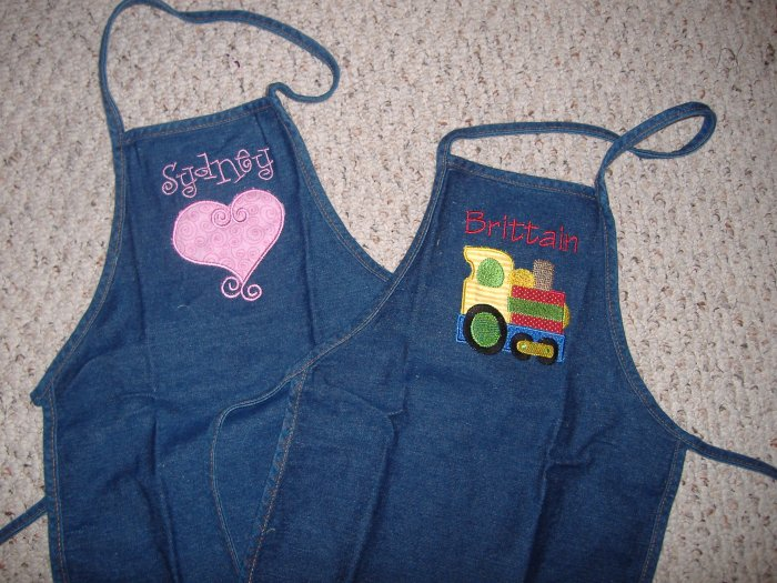 Personalized kid apron