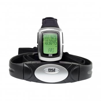 Pyle PHRM26 Speed & Distance Heart Rate Watch W/ USB & 3D walking/Running Sensor