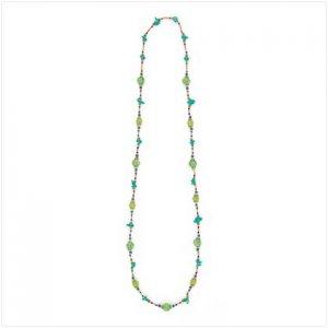 Green Sundance Long Necklace