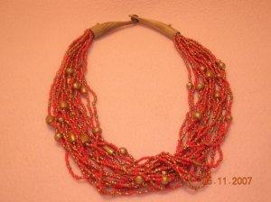 Red Beads Necklace FREE SHIPPING