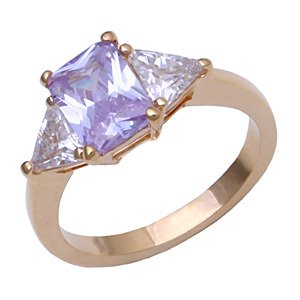Bargain Jewelry: Beautiful LIght Amethyst CZ Ring Size 7
