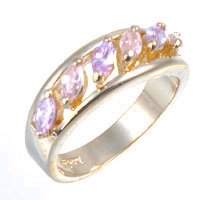 Bargain Jewelry: Lavender and Pink Gold Ring, size 8