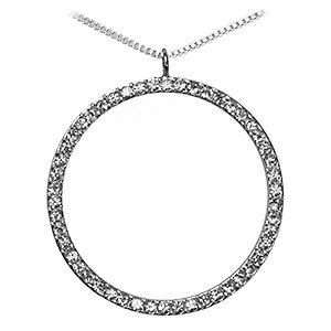 Free Shipping: Clear Swiss Crystal Circle Pendant