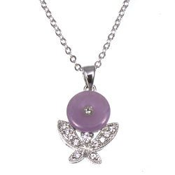 Free Shipping: Lavendar Jade Sterling Silver Pendant