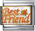 Free Shipping: Best Friend Enamel Italian 9mm Charm