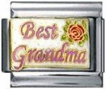 Free Shipping: Best Grandma Enamel Italian 9mm Charm