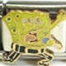 Free Shipping: Rock and Roll Spongebob  Enamel Italian 9mm Charm