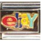 Free Shipping: Ebay Logo  Enamel Italian 9mm Charm