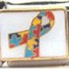 Free Shipping: Autism Awareness Ribbon Enamel Italian 9mm Charm