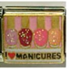 Free Shipping: I Love Manicures Enamel Italian Charm 9mm