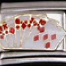 Free Shipping: Poker Enamel Italian Charm 9mm (Royal Flush Las Vegas Casino)