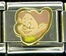 Free Shipping: Disney's Snow White's Dwarf Dopey Enamel Italian Charm 9mm