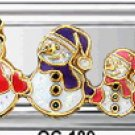 Free Shipping: Christmas Snowman Family Super Italian Charm 9mm