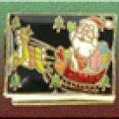 Free Shipping: Christmas Santa on Sled with Black Background Italian Charm 9mm