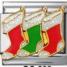 Free Shipping: Christmas Stocking Italian Charm 9mm