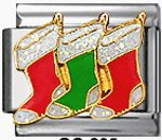 Free Shipping: Christmas Stocking Italian Charm 9mm