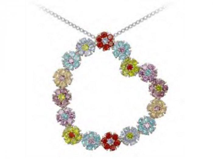Angled Flower Heart Pendant  Retail Price: $106.95