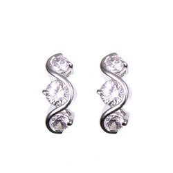 FREE SHIPPING  S-Shaped Past-Present-Future Earrings