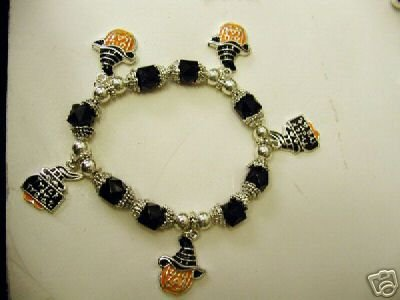 FREE SHIPPING Halloween Charm Bracelet