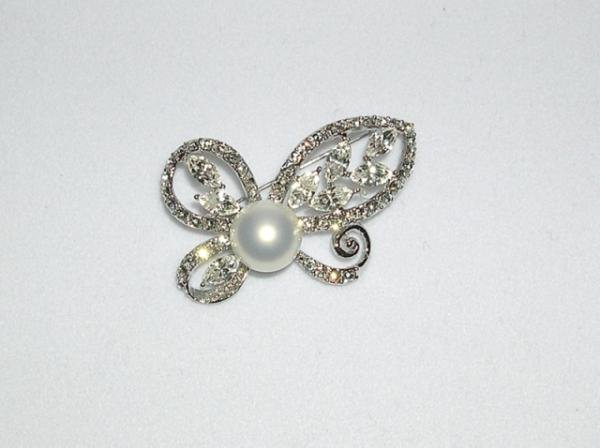 Swarovski Crystals Butterfly Pin Broach