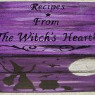 Primitive recipe box witches witch witchcraft halloween folk art black cats Kitchen Pagan Wiccan