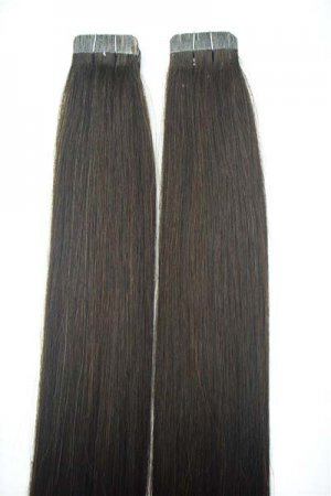 Seamless Tape hair #2 Chocolate Brown 40 pieces Remy human hair extensions 100 grams 18""