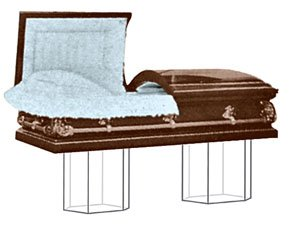 Casket  Pedestals  -  Nearly Invisible  (One Set / Two Pedestals -CE 6950)