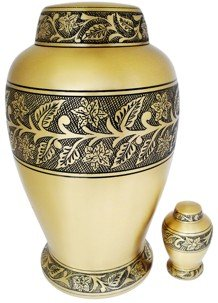 """Soulful Peace"" (TM) Brass Urn"