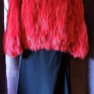 $5500 AUTH Plein Sud Red Fox Fur Turtle Neck Pullover Top