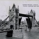 Tower Bridge Vintage Postcard (circa 1912)