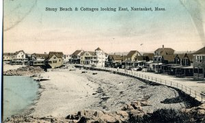 5168 Stony Beach & Cottages Vintage Postcard (circa early 1900s)