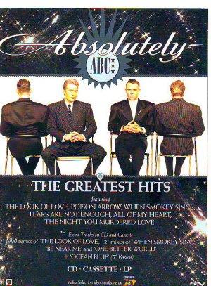 ABC - Absolutely genuine rare vintage advert 1990
